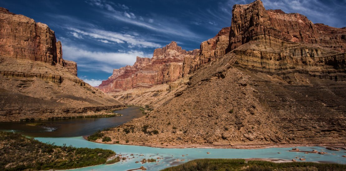 River confluence Grand Canyon