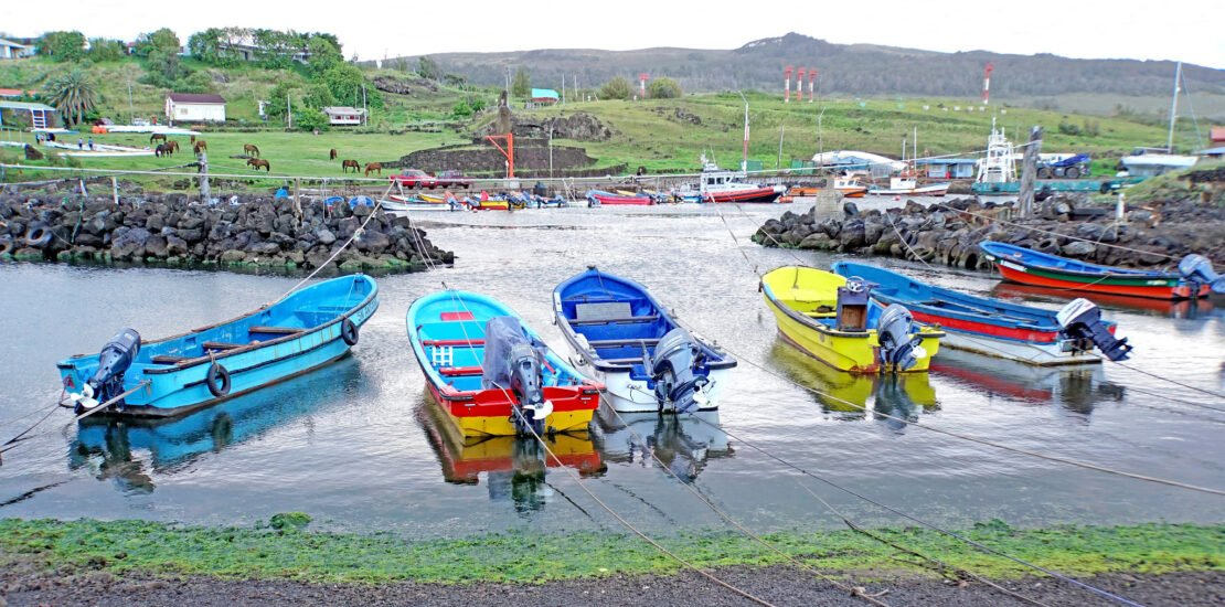 Fishing boats in Chile